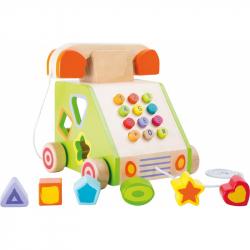 Drevená motorická hra - Ťahací telefón