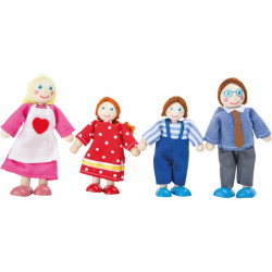 Drevené ohýbateľné bábiky rodina