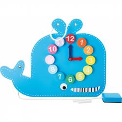 Didaktivní tabuľa s hodinami veľryba