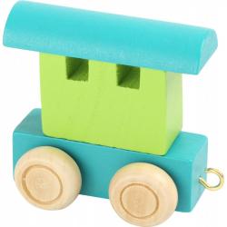 Vláčkodráha - Vláčik abeceda - vagónik zelený