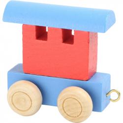 Vláčkodráha - Vláčik abeceda - vagónik farebný