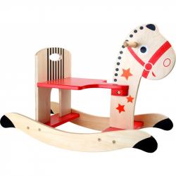 Dřevěný houpací koník hvězda