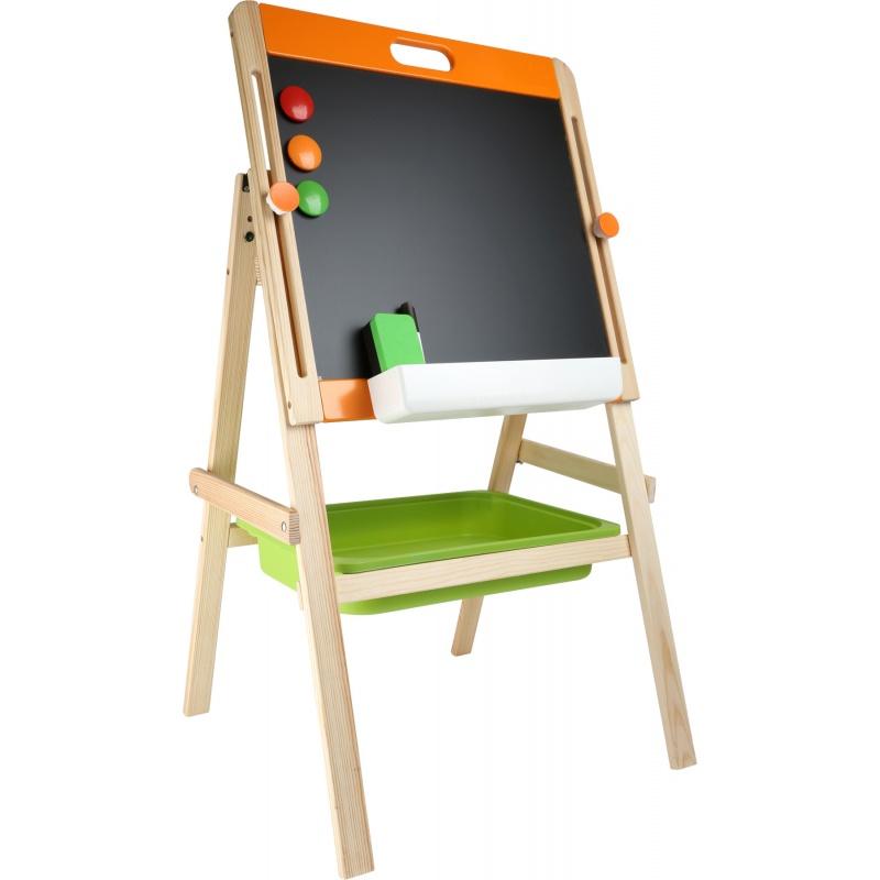 Dřevěné hračky - Kompaktní dětská tabule na křídu i magnet