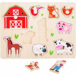 Dřevěná vkládačka - Vkládací puzzle - Farma