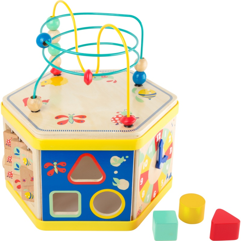 Dřevěná hračka - Lesní motorická kostka