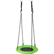 Drevené vonkajšie hračky - Hojdacia sieť - Bocianie hniezdo zelené