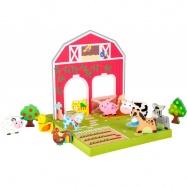 Dřevěná hračka - Farma se zvířátky