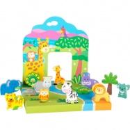 Drevená hračka - Zvieratká zo ZOO
