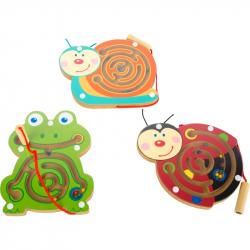 Magnetický labyrint zvieratka 1 ks žabka