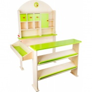 Zielony warzywniak stoisko dla dzieci