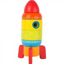Dřevěná barevná raketa