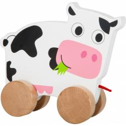 Drevená ťahacia kravička