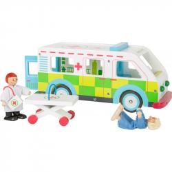 Drewniany ambulans Dzielny Pacjent