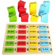 Klocki matematyczne z działaniami, Small Foot, 3+