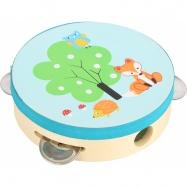 Dřevěná tamburina s lištičkou