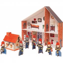 Skladací kartónová požiarná stanice