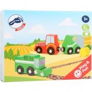 Set barevných zemědělských strojů