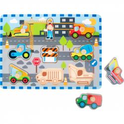 Wylot Puzzle in legno Cantiere'stradale 9 pezzi Legler