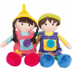 Látkové panenky Noe a Emma