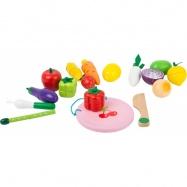 Small Foot Dřevěný magnetický set ovoce a zelenina