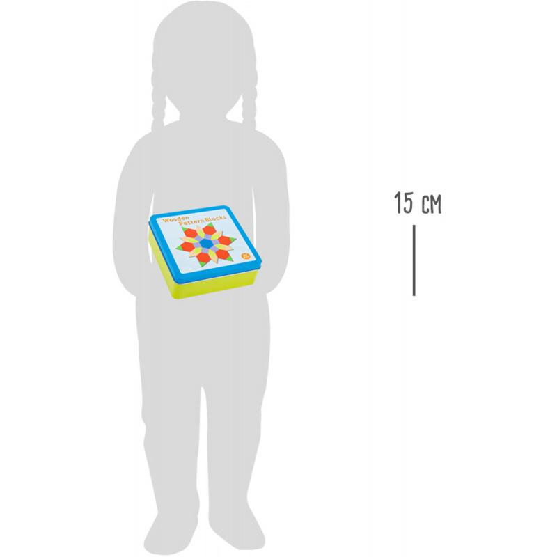 Small Foot Tangram v kovové krabičce