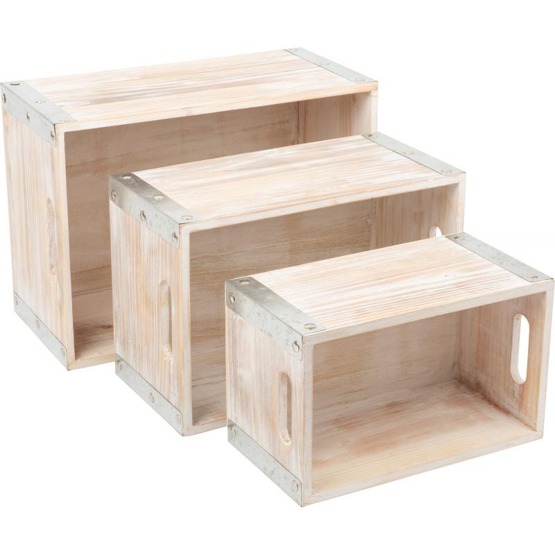 Small Foot Dřevěná bedýnka 3 ks Industrial