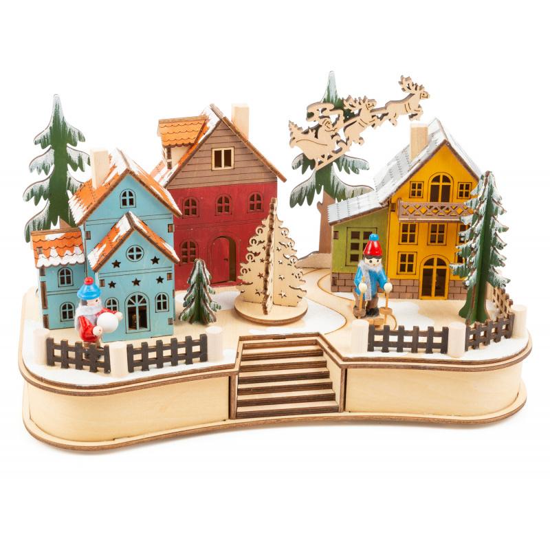 Small Foot Vánoční lampa Vesnice