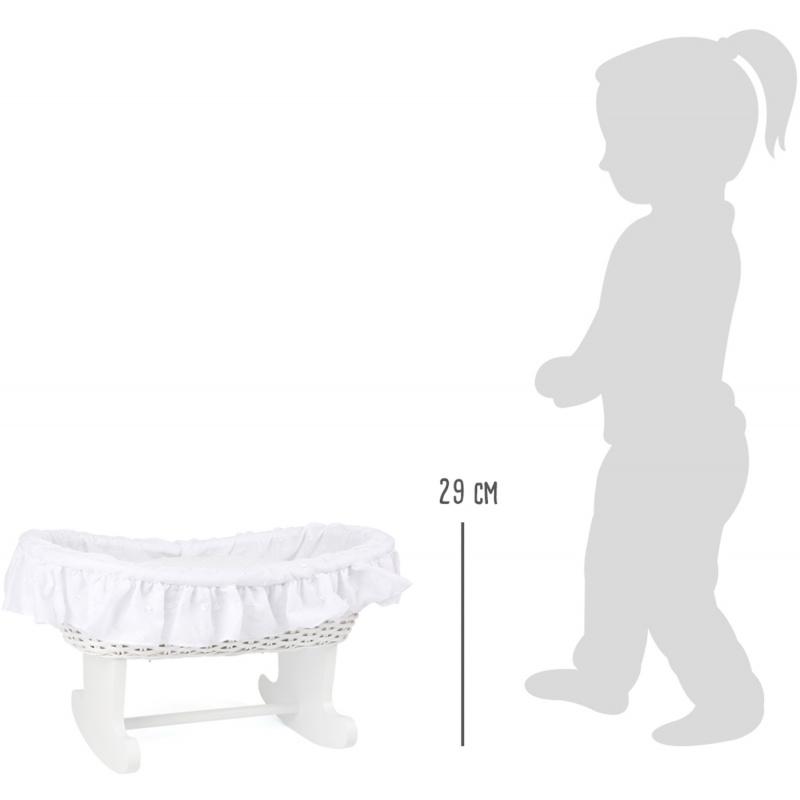 Small Foot Kolébka pro panenky Bassinet bílá