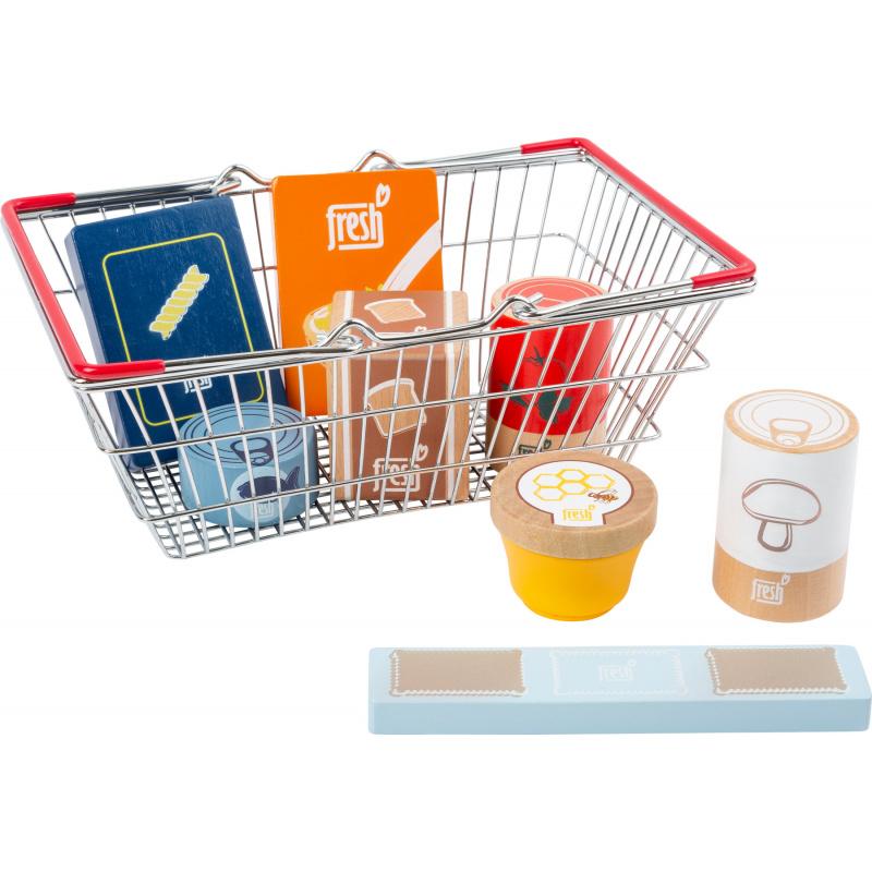 Small Foot Čerstvé potraviny v nákupním košíku
