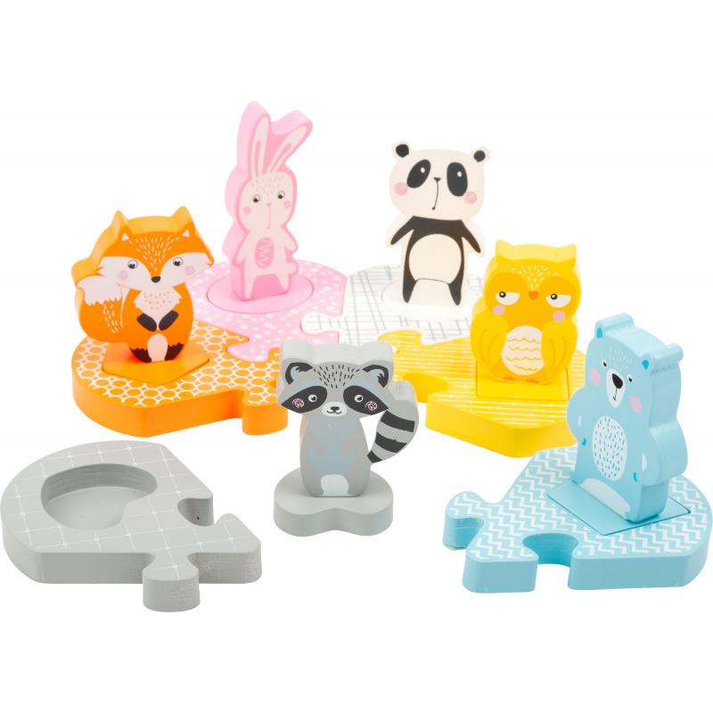 Small Foot Dřevěné vkládací puzzle zvířátka