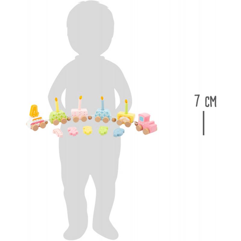 Small Foot Drevený narodeninový vlak s číslami