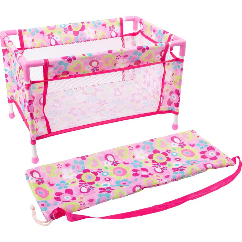 Small Foot Cestovní postýlka pro panenky růžová