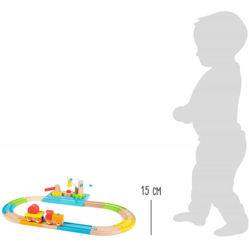 Small Foot Dřevěná vláčkodráha Junior