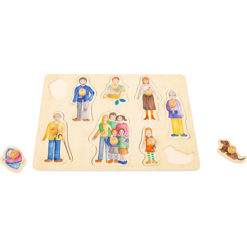 Small Foot Dřevěné puzzle Rodina