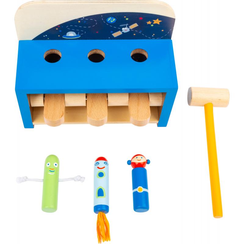Small Foot Zatloukačka s raketami Space