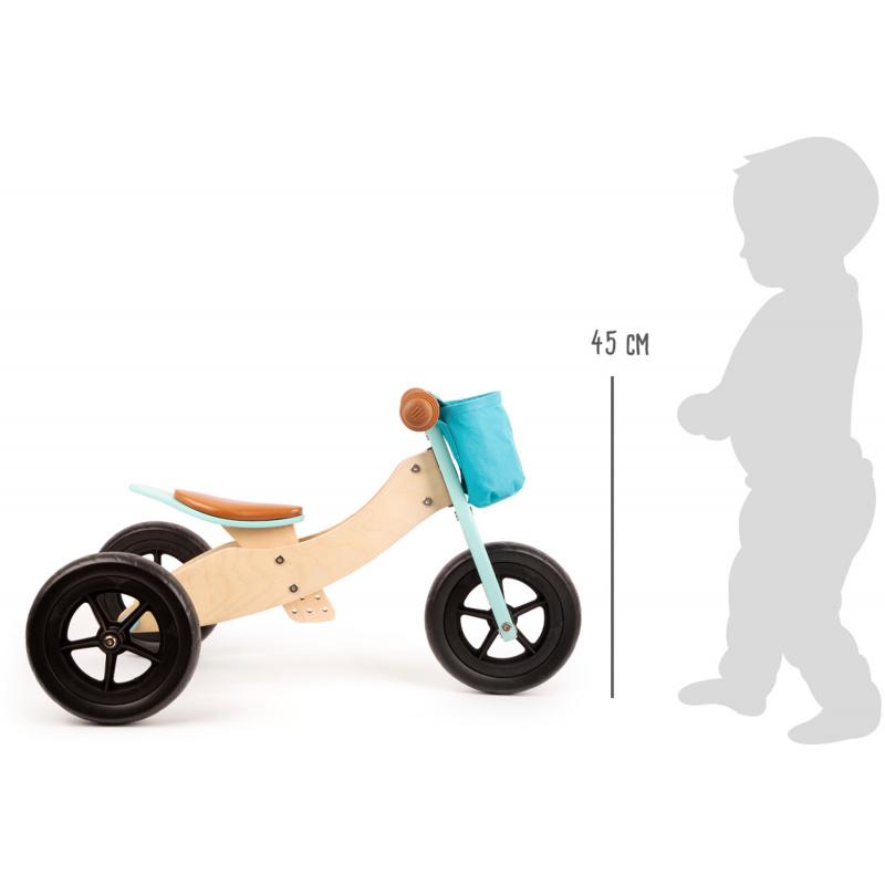 Small Foot Dřevěné odrážedlo Maxi 2 v 1 tyrkysové