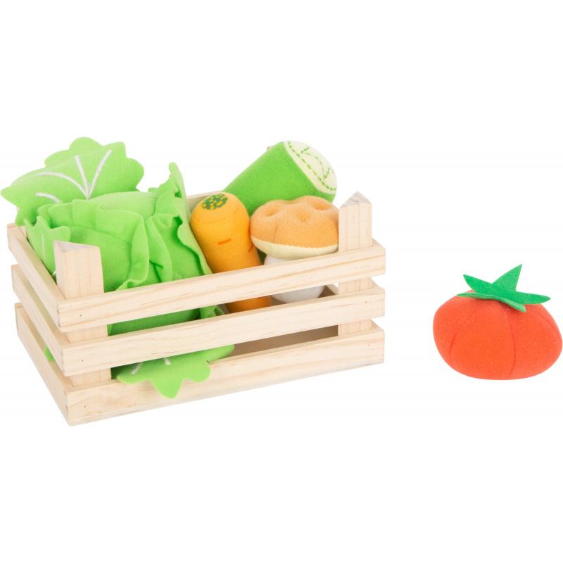 Mała skrzynka na stopy z warzywami