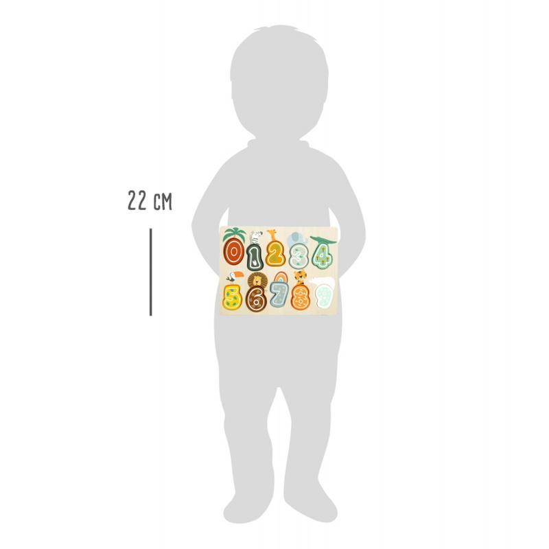 Small Foot Wstawianie liczb Safari Puzzle