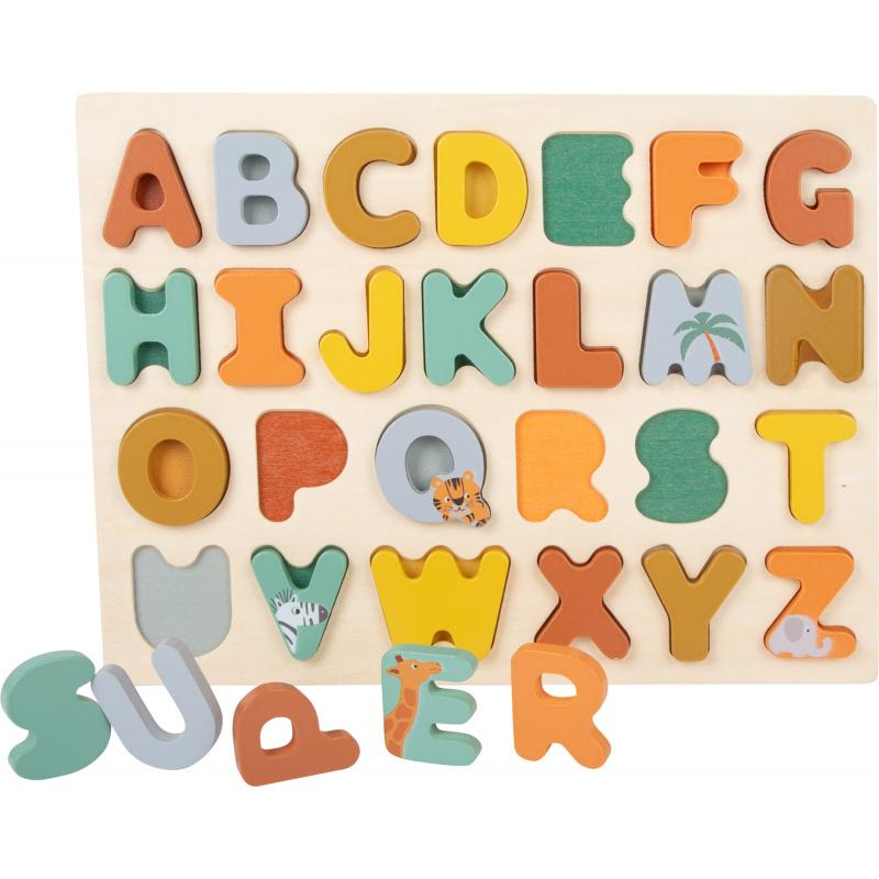 Small Foot Vkladacie puzzle Safari abeceda