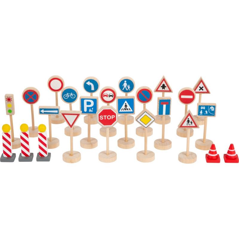 Znaki drogowe dla małych stóp zestaw 25 części