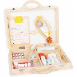 Small Foot Detský doktorský kufrík pre malé zubára 2v1