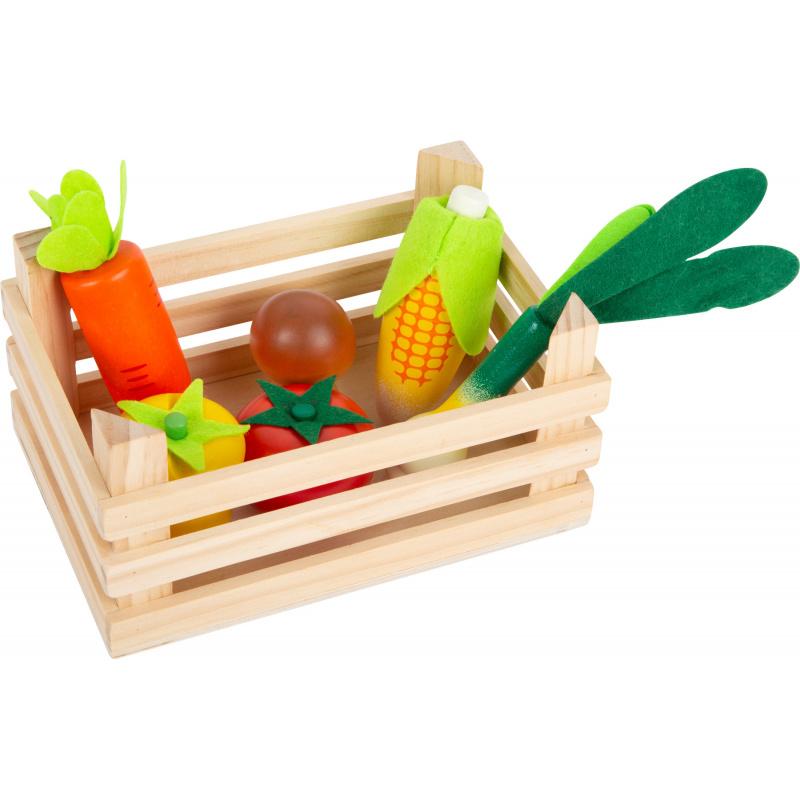 Mały Foot Box z warzywami do sklepu