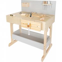 Small Foot Dziecięcy stół roboczy szary z narzędziami