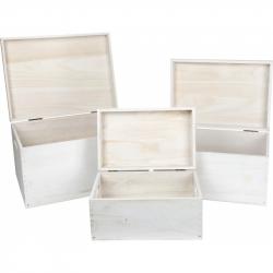 Small Foot Dřevěné uložné boxy s víkem 3ks