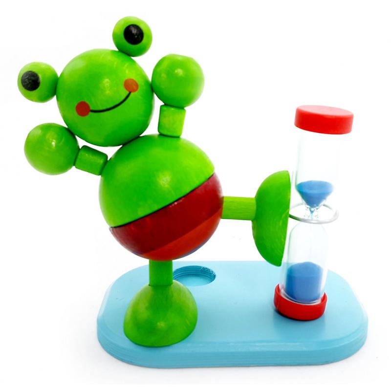 Hess Presýpacie hodiny žaba pre meranie doby čistenie zubov