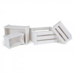 Holzkiste weiß, 4er Set 1499