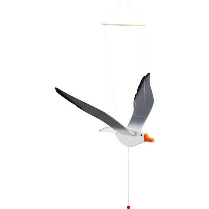 Dřevěné dekorace - Létající racek