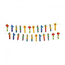 Legler, Drewniane dekoracyjne spinacze do prania - Zwierzęta, 24 szt