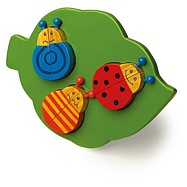 Dřevěné hračky -  Vkládací puzzle - 3 berušky