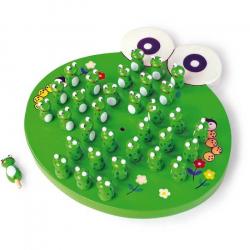 Drevená hra - Solitér žaba